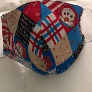 Children's Raggedy Ann & Andy Face Masks